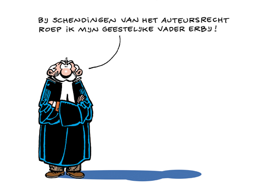copyright cartoon Dutch